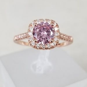 Jewelry - 18k Over Sterling Pink Ring